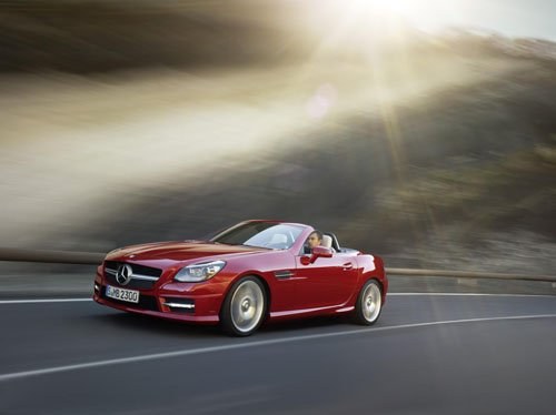 "Mercedes-Benz SLK 2012 Car Poster Print on 10 mil Archival Satin Paper 16"" x 12"""