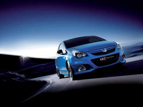 "Vauxhall Corsa VXR Blue Edition Car Poster Print on 10 mil Archival Satin Paper 16"" x 12"""