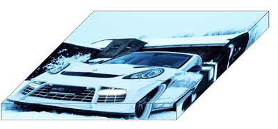 "Porsche Edo Competition Panamera Turbo Moby Dick Archival Canvas Car Print (Mounted) 16"" x 12"""