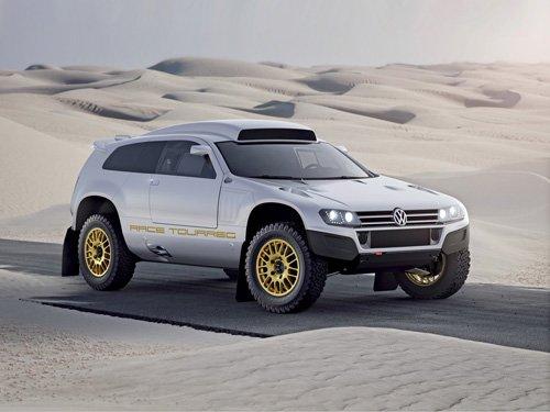 "Volkswagen Race Touareg 3 Qatar Concept Car Poster Print on 10 mil Archival Satin Paper 20"" x 15"""