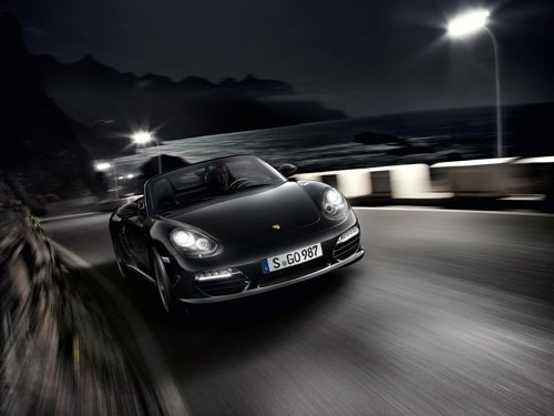 "Porsche Boxster S Black Edition Car Poster Print on 10 mil Archival Satin Paper 16"" x 12"""