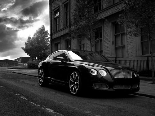 """Bentley Continental GTS Black Edition Car Poster Print on 10 mil Archival Satin Paper 16"""" X 12"""""""