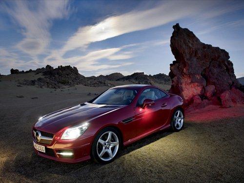 "Mercedes-Benz SLK 350 Roadster Car Poster Print on 10 mil Archival Satin Paper 16"" x 12"""