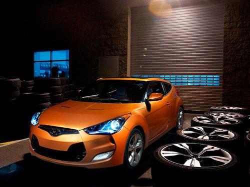 "Hyundai Veloster (2012) Car Poster Print on 10 mil Archival Satin Paper 16"" x 12"""