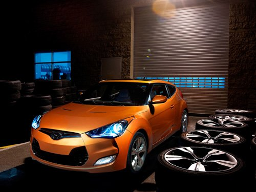 "Hyundai Veloster (2012) Car Poster Print on 10 mil Archival Satin Paper 26"" x 16"""