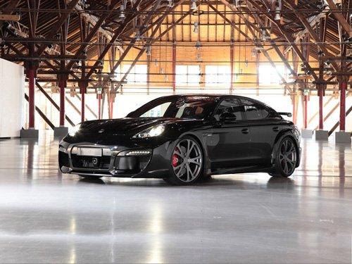 "Porsche Panamera TechArt GrandGT Carbon Kit Car Poster Print on 10 mil Archival Satin Paper 16""x12"""