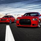 "Dodge Charger R/T and Charger SRT8 Canvas Car Print (Rolled) 16"" x 12"""