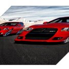 "Dodge Charger R/T and Charger SRT8 Car  Archival Canvas Print (Mounted) 16"" x 12"""