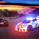 "Bugatti Veyron Police Car Chase Car Poster Print on 10 mil Archival Satin Paper 21"" x 15"""