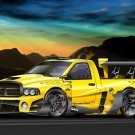 "Dodge RAM SRT Evo Custom Truck Poster Print on 10 mil Archival Satin Paper 16"" x 12"""