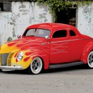 "Ford Coupe (1940) Custom Car Poster Print on 10 mil Archival Satin Paper 16"" x 12"""