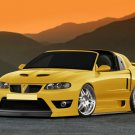"Pontiac GTO Custom Car Poster Print on 10 mil Archival Satin Paper 16"" x 12"""
