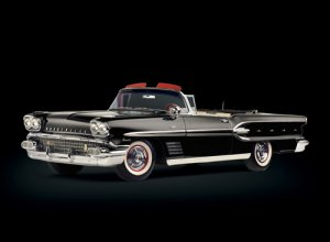 "Pontiac Bonneville Convertible (1958) Car Poster Print on 10 mil Archival Satin Paper 16"" x 12"""
