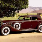 "Packard (1934) 1108 Sedan Car Poster Print on 10 mil Archival Satin Paper 16"" x 12"""