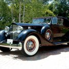 "Packard (1934) V12 Convertible Victoria Car Poster Print on 10 mil Archival Satin Paper 16"" x 12"""