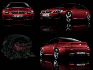 "BMW M6 Montage Car Poster Print on 10 mil Archival Satin Paper 16"" x 12"""