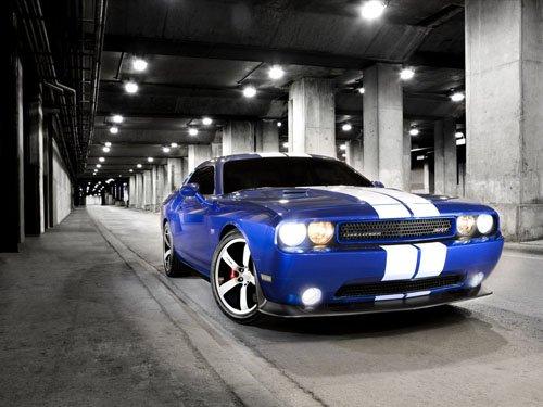 "Dodge Challenger SRT8 2011 Car Poster Print on 10 mil Archival Satin Paper 36"" x 24"""