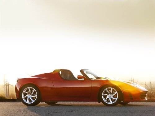 "Tesla Roadster 2.5 Car Poster Print on 10 mil Archival Satin Paper 24"" x 18"""