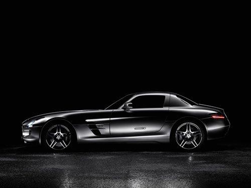 "Mercedes SLS AMG (2011) Car Poster Print on 10 mil Archival Satin Paper 24"" x 18"""