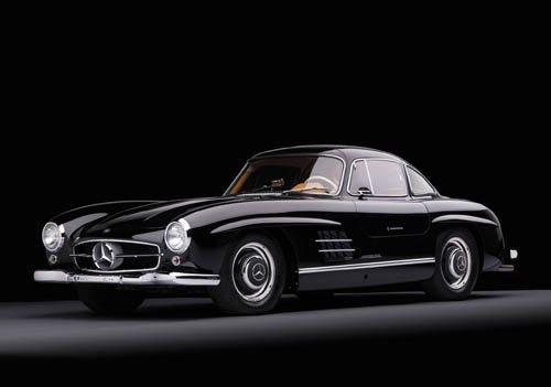 "Mercedes-Benz 300 SL (1955) Car Poster Print on 10 mil Archival Satin Paper 16"" x 12"""