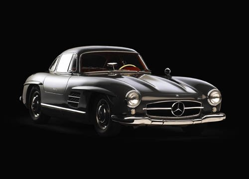 "Mercedes-Benz 300 SL (1955) Car Poster Print on 10 mil Archival Satin Paper 16"" x 12"""