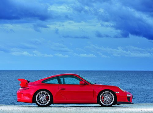 "Porsche 911 GT3 (2010) Car Poster Print on 10 mil Archival Satin Paper 24"" x 18"""