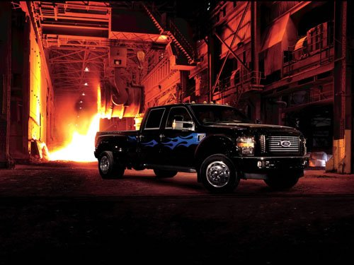 """Ford F-450 Super Duty Harley Davidson Truck Poster Print on 10 mil Archival Satin Paper 36"""" x 24"""""""