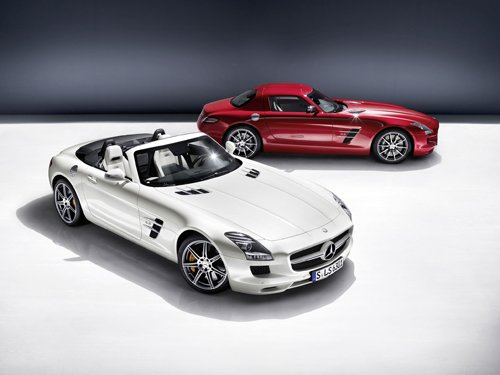 "Mercedes-Benz SLS AMG Roadster 2012 Car Poster Print on 10 mil Archival Satin Paper 24"" x 18"""