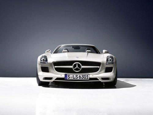 "Mercedes-Benz SLS AMG Roadster 2012 Car Poster Print on 10 mil Archival Satin Paper 24"" x 18"""