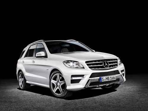 "Mercedes-Benz M-Class (2012) Car Poster Print on 10 mil Archival Satin Paper 36"" x 24"""