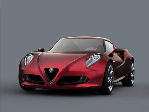 "Alfa Romeo 4C Concept Car Poster Print on 10 mil Archival Satin Paper 36"" x 24"""