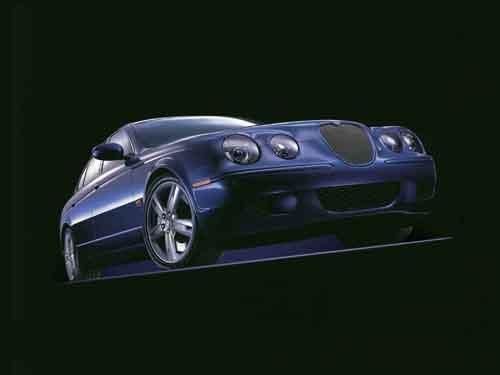 "Jaguar S-Type R Car Poster Print on 10 mil Archival Satin Paper 16"" x 12"""