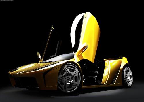 "Lamborghini Fly Concept Car Poster Print on 10 mil Archival Satin Paper 16"" x 12"""