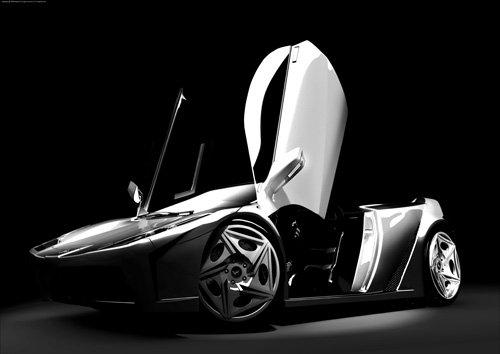 "Lamborghini Fly Concept Car Poster Print on 10 mil Archival Satin Paper 30"" x 22"""