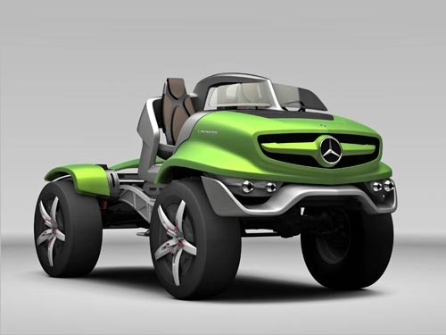 "Mercedes-Benz Unimog Concept Car Poster Print on 10 mil Archival Satin Paper 36"" x 24"""
