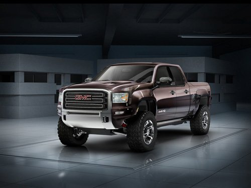 "GMC Sierra All Terrain HD Concept Car Poster Print on 10 mil Archival Satin Paper 24"" x 16"""
