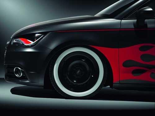"Audi A1 Hot Rod Car Poster Print on 10 mil Archival Satin Paper 16"" x 12"""