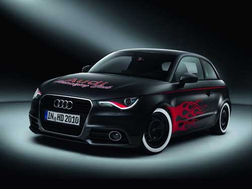 "Audi A1 Hot Rod Car Poster Print on 10 mil Archival Satin Paper 24"" x 18"""