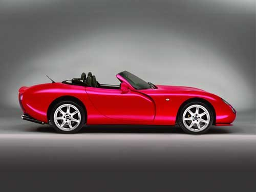 """TVR Tuscan Convertible Car Poster Print on 10 mil Archival Satin Paper 16"""" x 12"""""""