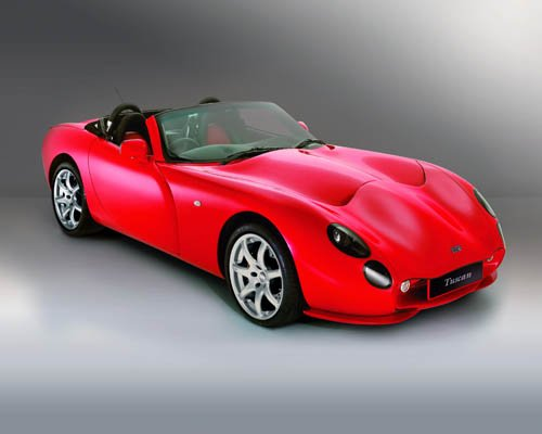 """TVR Tuscan Convertible Car Poster Print on 10 mil Archival Satin Paper 24"""" x 18"""""""