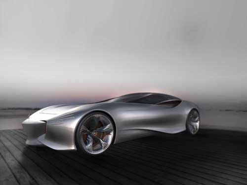 "Mercedes-Benz Aria Concept Design Car Poster Print on 10 mil Archival Satin Paper 24"" x 18"""