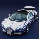 "Bugatti  Veyron Grand Sport L'Or Blanc Car Poster Print on 10 mil Archival Satin Paper 24"" x 18"""