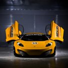 "McLaren MP4-12C GT3 Coupe Car Poster Print on 10 mil Archival Satin Paper 36"" x 24"""
