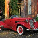 "Auburn 852 Speedster Car Poster Print on 10 mil Archival Satin Paper 16"" x 12"""