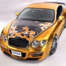 "Bentley Continental ASI W66 GTS Gold Car Poster Print on 10 mil Archival Satin Paper 36"" x 24"""