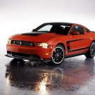 "Ford Mustang Boss 302 (2012) Car Poster Print on 10 mil Archival Satin Paper 36"" x 24"""