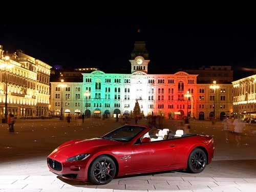 "Maserati GranCabrio Sport International Car Poster Print on 10 mil Archival Satin Paper  16"" x 12"""