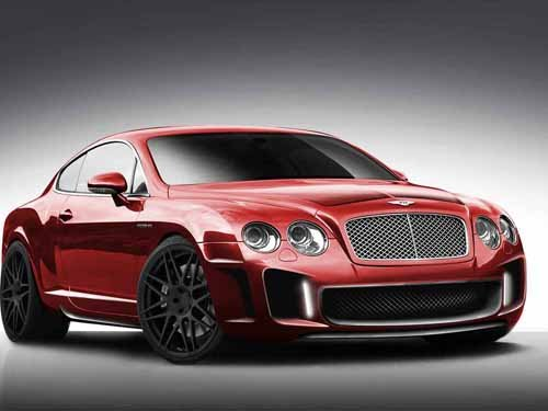 """Imperium Bentley Continental GT Car Poster Print on 10 mil Archival Satin Paper 16"""" x 12"""""""