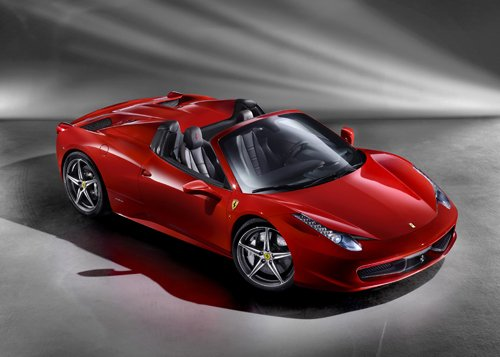 "Ferrari 458 Spider (2013) Car Poster Print on 10 mil Archival Satin Paper 24"" x 18"""