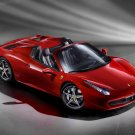 "Ferrari 458 Spider (2013) Car Poster Print on 10 mil Archival Satin Paper 24"" x 18"""